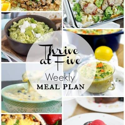 Thrive at Five Weekly Meal Plan February Week 3