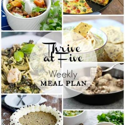 Thrive At Five Meal Plan February Week 4
