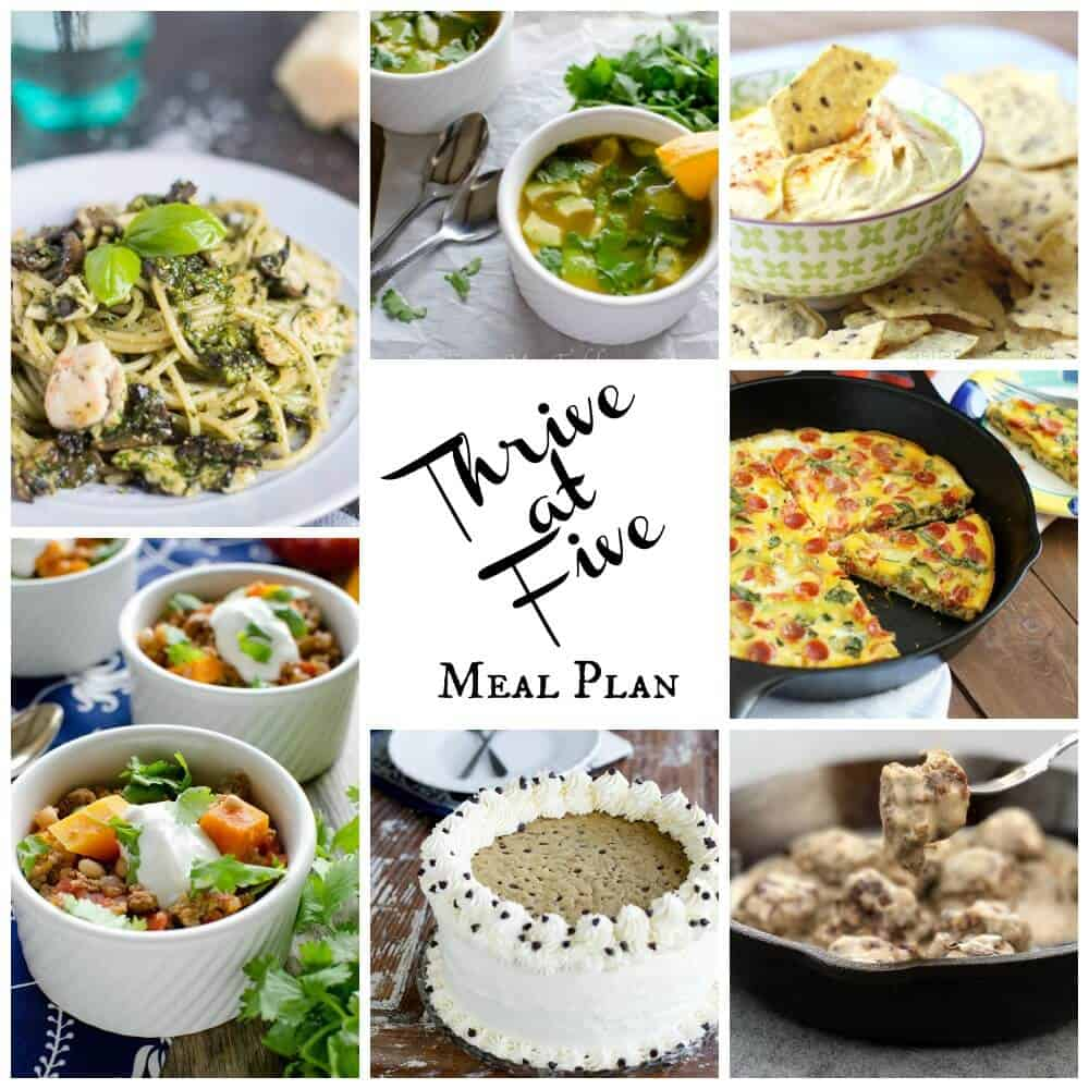 Thrive at five weekly meal plan February week 4