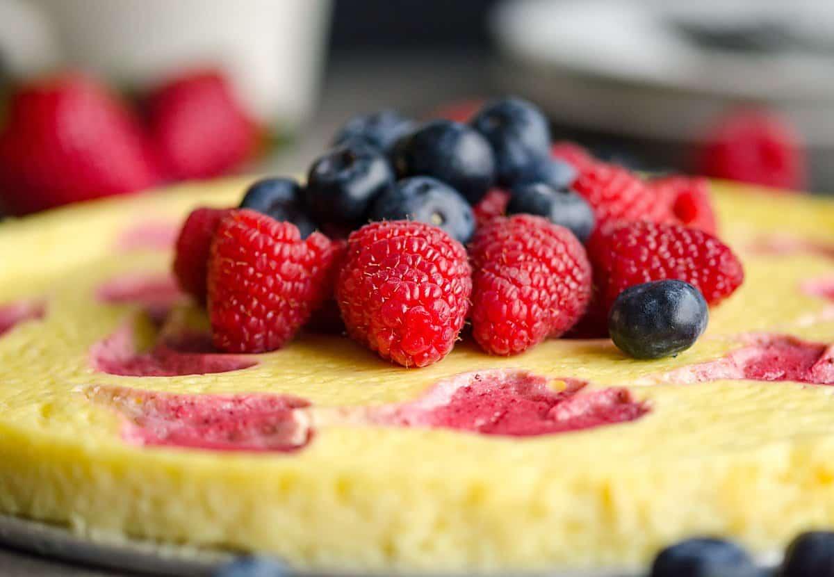lightened up cheesecake