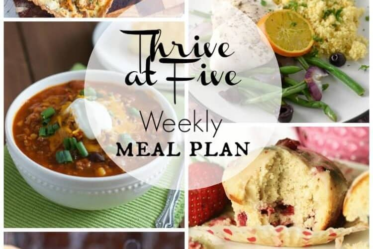 Thrive At Five Meal Plan March Week 2