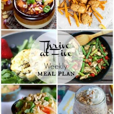 Thrive at Five Meal Plan March Week 4