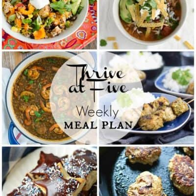 Thrive at Five Meal Plan March Week 5