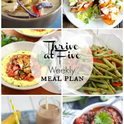 Thrive at Five Meal Plan April Week 1