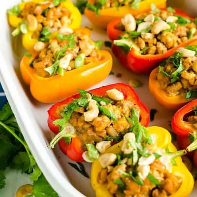 Asian Chicken Stuffed Peppers