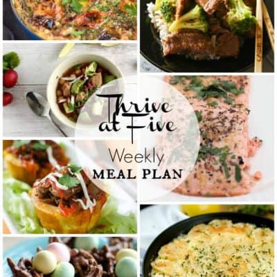 Thrive at Five Meal Plan April Week 2