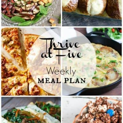 Thrive at Five Meal Plan April Week 3