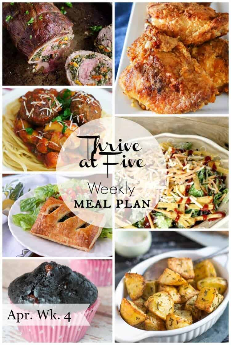 Weekly meal planning ideas