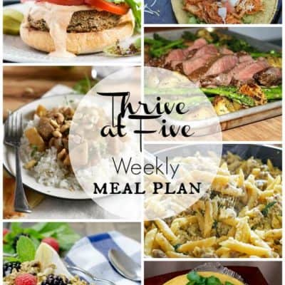 Thrive at Five Meal Plan May Week 1
