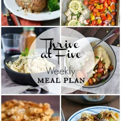 Thrive at Five Meal Plan May Week 2