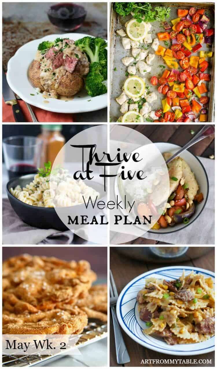 quick weekly meal plan