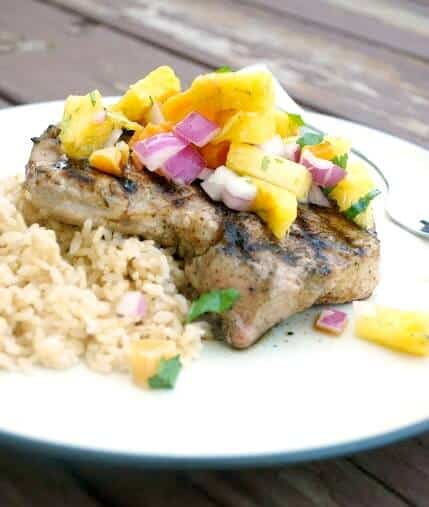 spiced pork steak with pineapple salsa meal plan may week 5