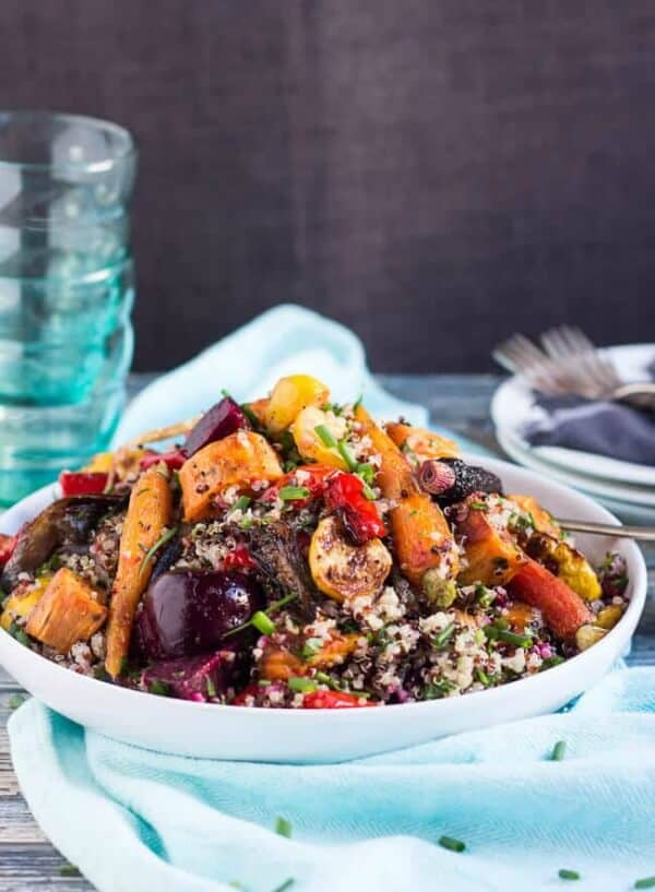 roasted vegetable quinoa salad weekly meal plan