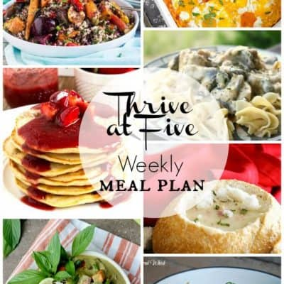 Thrive at Five Meal Plan May Week 3