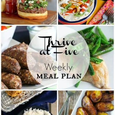Thrive at Five Meal Plan May Week 4