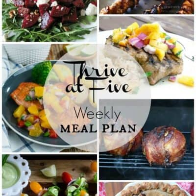Thrive At Five Meal Plan May Week 5