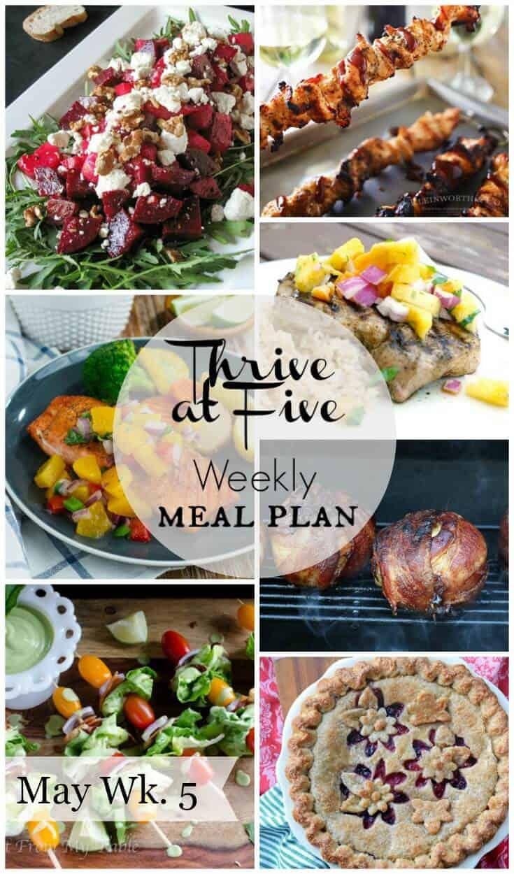 Free weekly meal plan may week 5