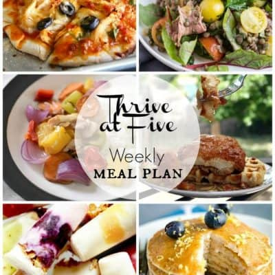 Thrive at Five Meal Plan June Week 1