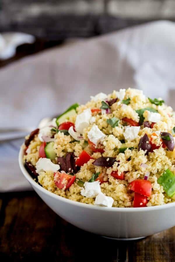 Greek Couscous salad weekly meal plan July week 1
