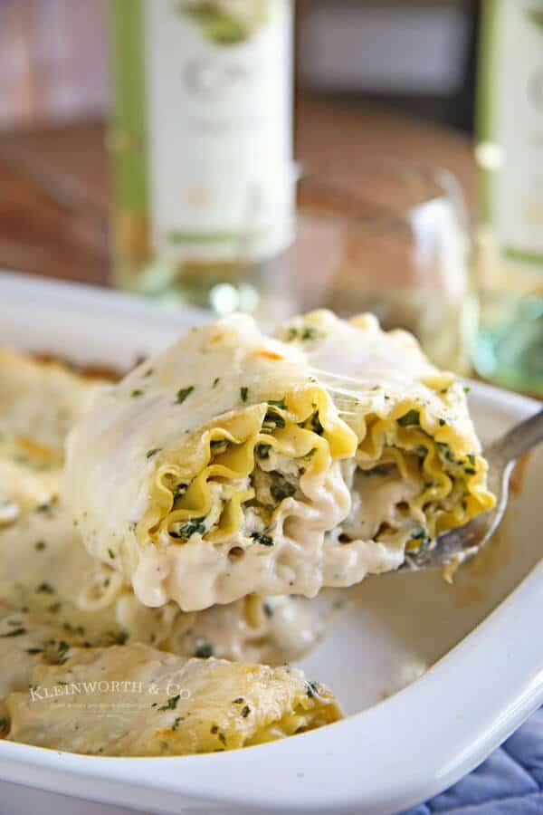 spinach alfredo lasagna roll up meal plan june week 3
