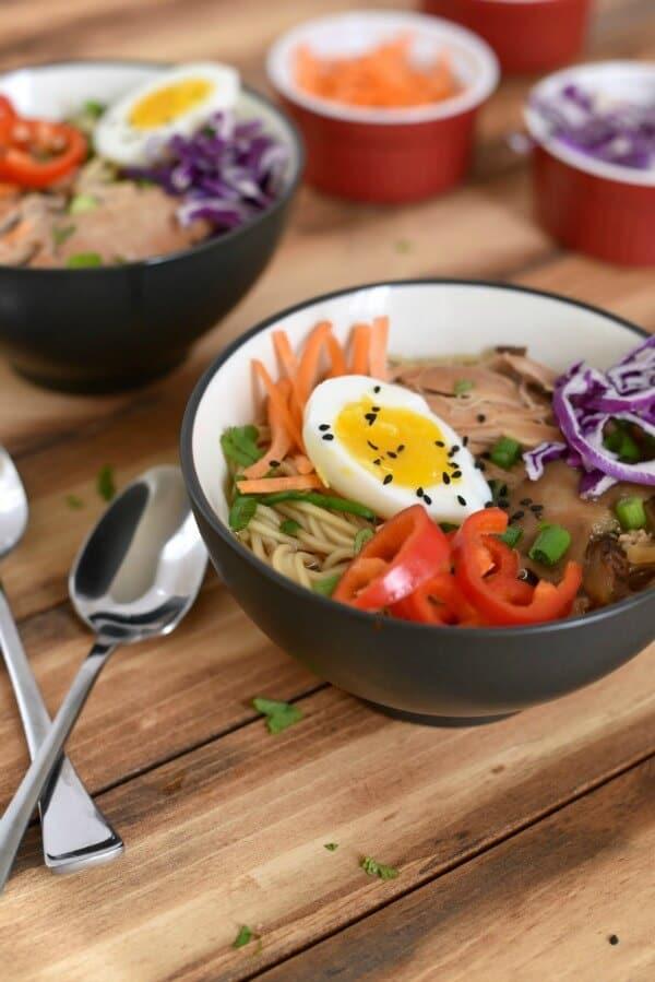 easy chicken ramen easy meal plan July week 1