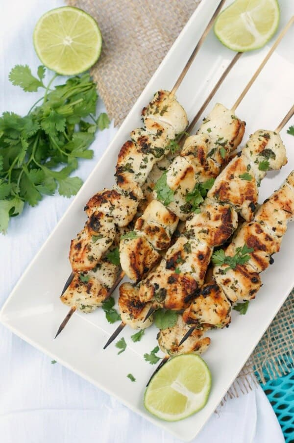 garlic cilantro chicken skewers free meal plan june week 2