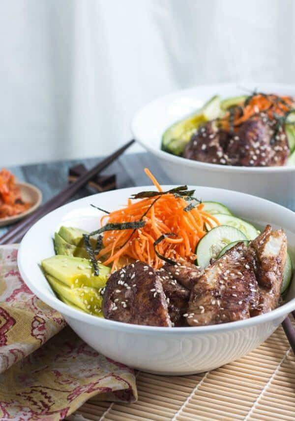 sushi rice bowl meal plan July week 1