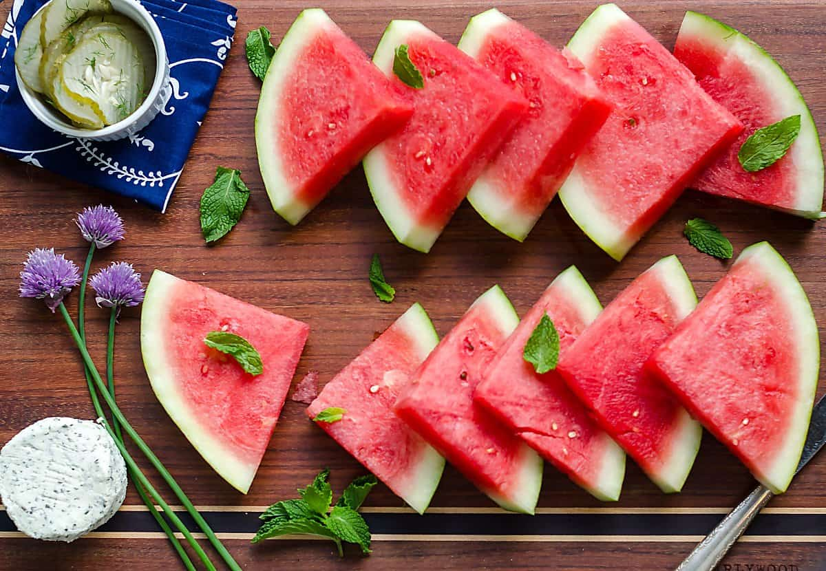 watermelon board appetizer