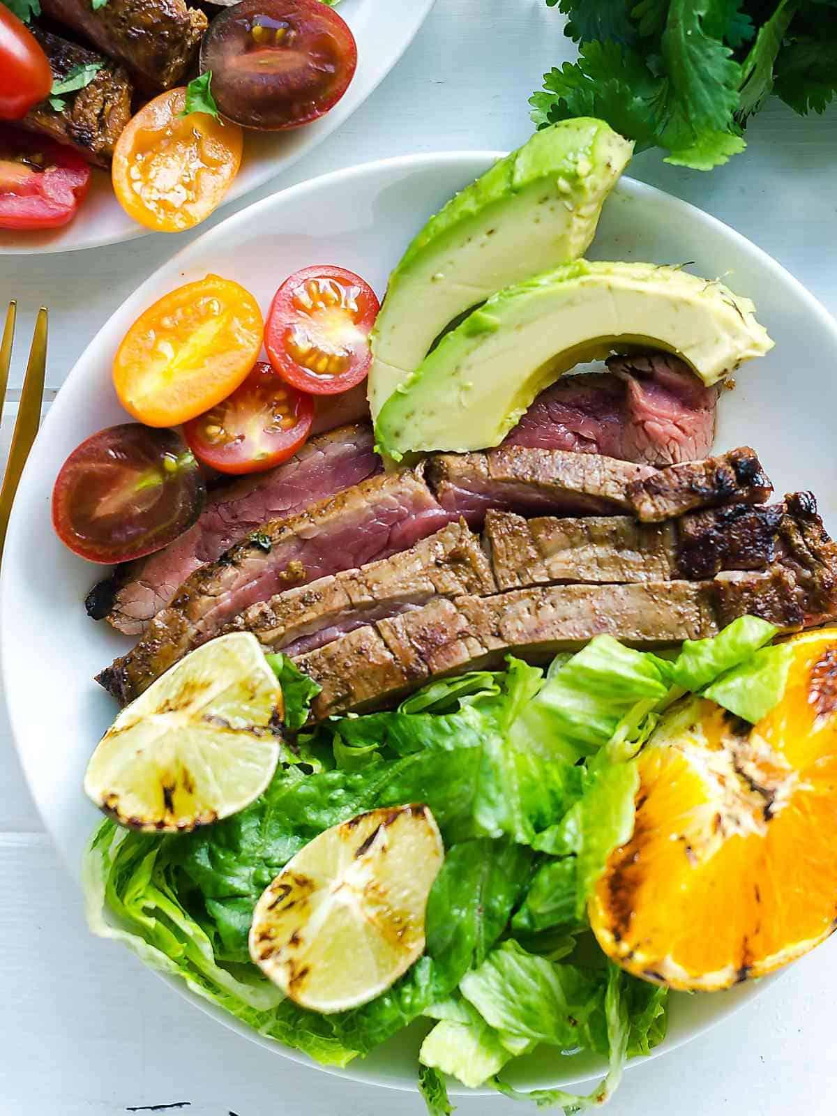 grilled carne asada - carne asada meat marinade