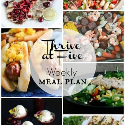 Thrive at Five Meal Plan June Week 2
