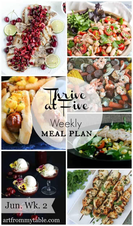 Free weekly meal plan June week 2