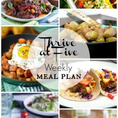 Thrive at Five Meal Plan June Week 3