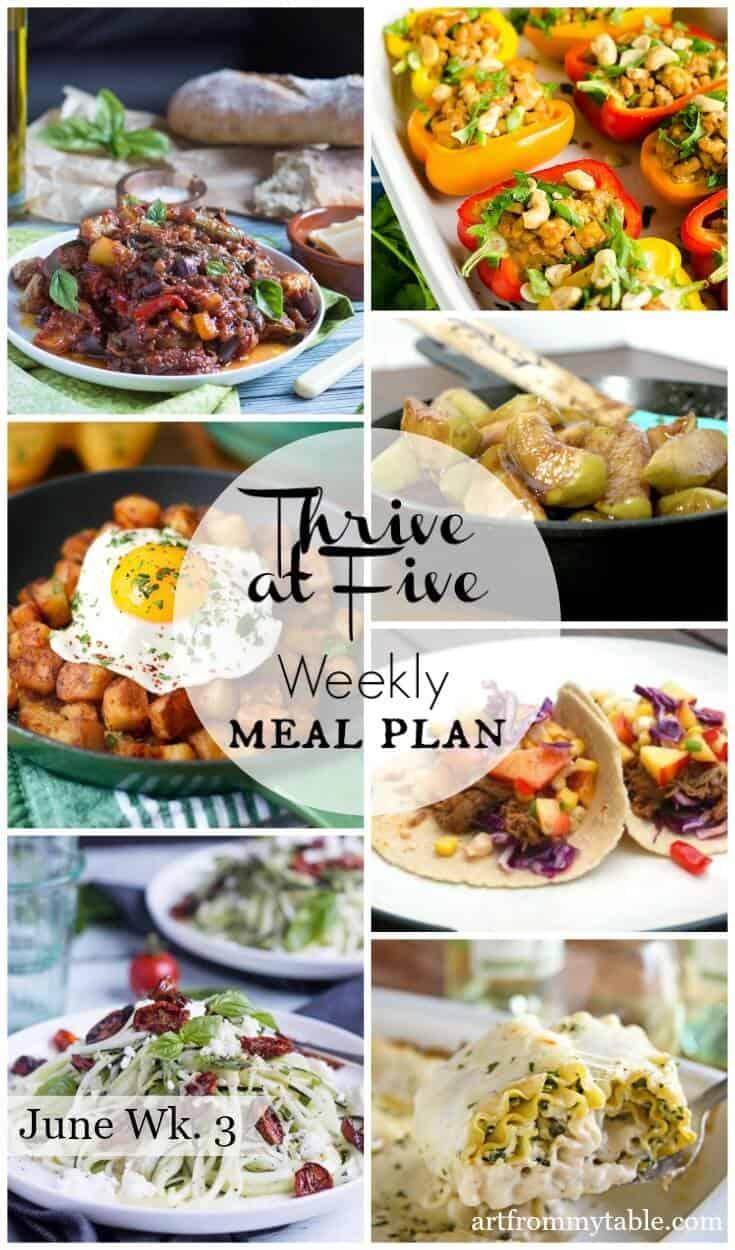 Meal plan june week 3 - easy dinners