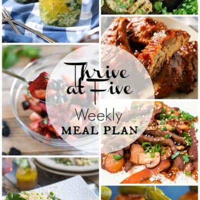 Thrive at Five Meal Plan June Week 4
