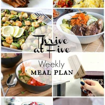 Thrive At Five Meal Plan July Week 1