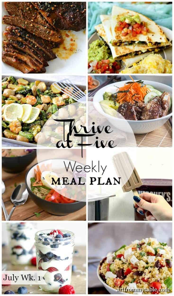 weekly meal plan July week 1