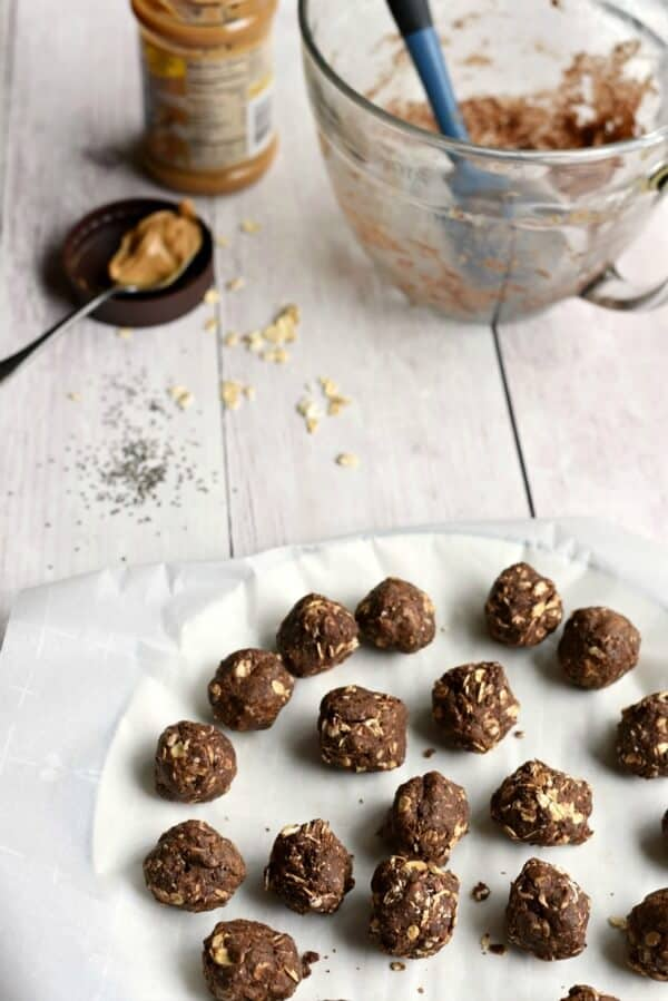 chocolate peanut butter energy bites meal planning