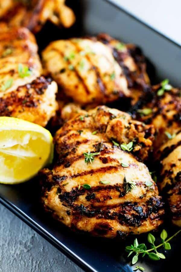 apple cider thyme grilled chicken meal plan july week 2