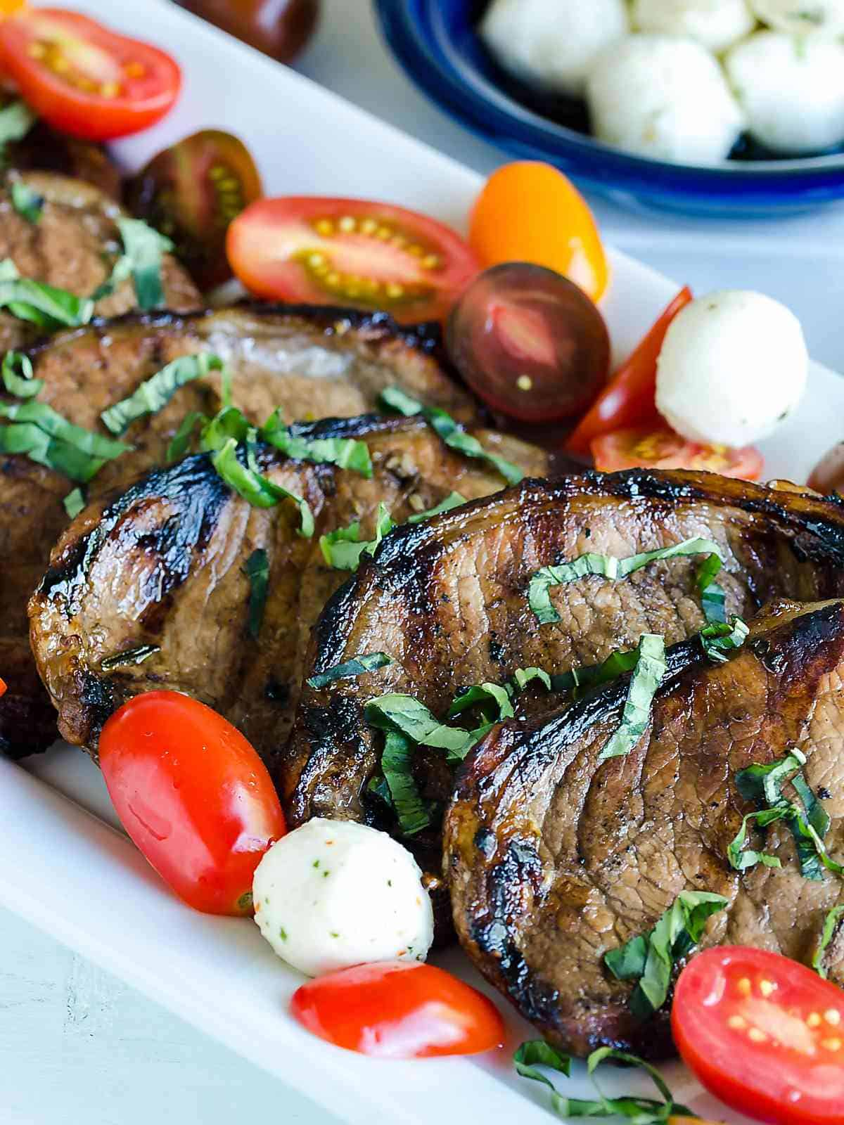 grilled boneless pork chops with balsamic