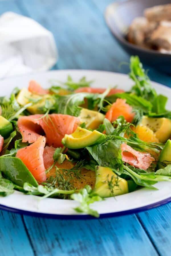 smoked salmon orange salad meal plan july week 3
