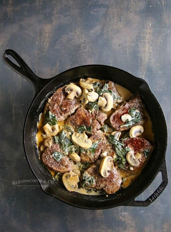 spinach mushroom filet mignon meal plan july week 2