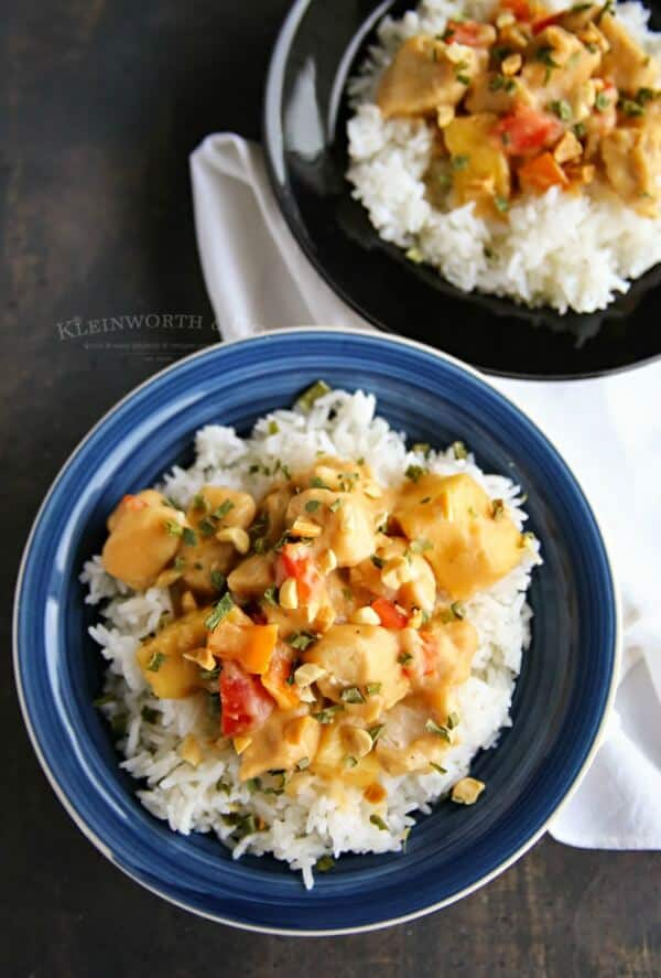 slow cooker pineapple chicken weekly meal plan