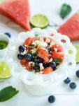 watermelon feta cheese salad