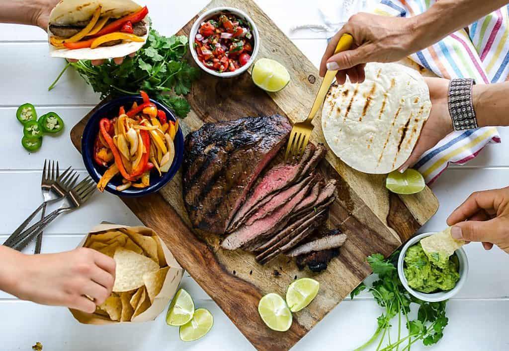 grilled steak fajitas recipe