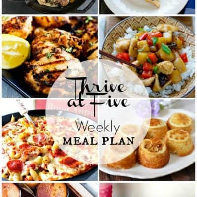 Thrive At Five Meal Plan July Week 2