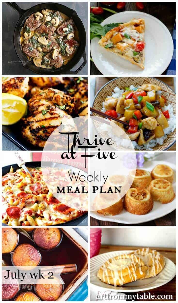 weekly meal plan july week 2