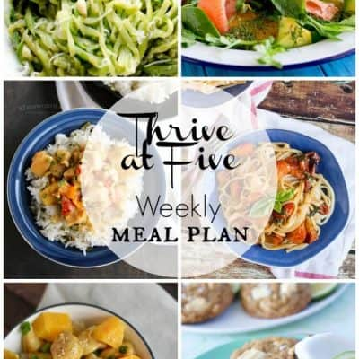 Thrive At Five Meal Plan July Week 3