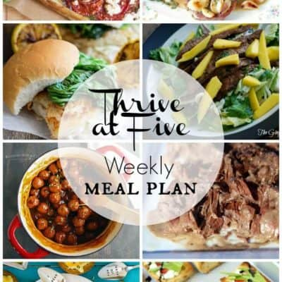 Thrive At Five Meal Plan July Week 4