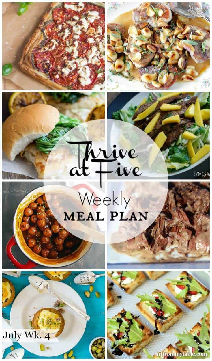 free easy weekly meal plan