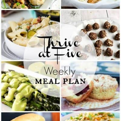 Thrive At Five Meal Plan August Week 1